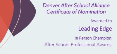 After School Alliance award